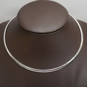 Sterling Silver (.925) 16 Inch Omega Necklace